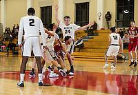 SPS boys varsity Basketball with Brewster.  ©2017 Karen Bobotas Photographer