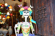 Day of dead statue, Tlaquepaque, Jalisco, Mexico.