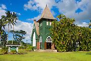 Wai'oli Hui'ia Church, Hanalei, Island of Kauai, Hawaii