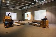 Mannheim. 08.11.17 | Zum Neubau Kunsthalle<br /> Innenstadt. Kunsthalle. Pressegespräch zum Neubau der Neuen Kunsthalle. Die Eröffnung der Neuen Kunsthalle im Dezember nur mit Skulpturen - keine Gemälde wegen technischen Verzögerungen.<br /> <br /> <br /> <br /> <br /> BILD- ID 01577 |<br /> Bild: Markus Prosswitz 08NOV17 / masterpress (Bild ist honorarpflichtig - No Model Release!)
