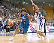 ATENE 21 AGOSTO 2007<br /> BASKET<br /> TORNEO AKROPOLIS<br /> ITALIA-GRECIA<br /> NELLA FOTO: MORDENTE<br /> FOTO CIAMILLO-CASTORIA