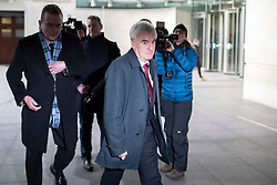 © Licensed to London News Pictures. 08/12/2019. London, UK. Shadow Chancellor of the Exchequer John McDonnell departs the BBC after appearing on The Andrew Marr Show. Photo credit: George Cracknell Wright/LNP