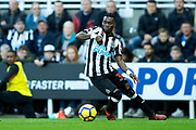 Christian Atsu (#30) of Newcastle United in action during the Premier League match between Newcastle United and Bournemouth at St. James's Park, Newcastle, England on 4 November 2017. Photo by Craig Doyle.