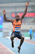 Jeff Henderson (USA) places fourth in the long jump at 26-7 1/4 (8.11m) during the IAAF Diamond League Shanghai 2018 in Shanghai, China, Saturday, May 12, 2018. (Jiro Mochizukii/Image of Sport)