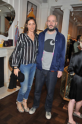 JAKE CHAPMAN and ROSEMARY FERGUSON at the Frocks and Rocks party hosted by Alice Temperley and Jade Jagger at Temperley, Bruton Street, London on 25th April 2013.