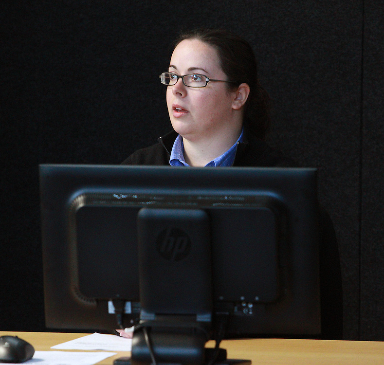 Hannah Clarke, Powell Fenwick Consultants, structural engineer at the hearing into 43 Lichfield Street at the Canterbury Earthquakes Royal Commission, Christchurch, New Zealand, Friday, February 24, 2012. Credit:SNPA / The Press, Stacey Squires**POOL**