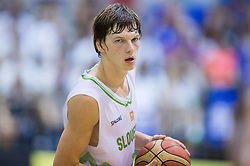 Jaka Klobucar of Slovenia during friendly basketball match between National teams of Slovenia and Ukraine at day 3 of Adecco Cup 2014, on July 26, 2014 in Rogaska Slatina, Slovenia. Photo by Vid Ponikvar / Sportida.com