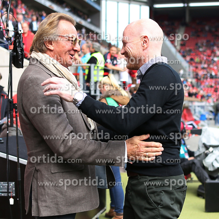 26.09.2015, Coface Arena, Mainz, GER, 1. FBL, 1. FSV Mainz 05 vs FC Bayern Muenchen, 7. Runde, im Bild Sportdirektor Matthias Sammer (FC Bayern Muenchen) mit Praesident Harald Strutz (FSV Mainz 05) // during the German Bundesliga 7th round match between 1. FSV Mainz 05 and FC Bayern Munich at the Coface Arena in Mainz, Germany on 2015/09/26. EXPA Pictures &copy; 2015, PhotoCredit: EXPA/ Eibner-Pressefoto/ Sch&uuml;ler<br /> <br /> *****ATTENTION - OUT of GER*****