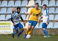 FODBOLD: Abdirizak Abdullahi (Humlebæk) under kampen i Serie 2 mellem Ølstykke FC og Humlebæk Boldklub den 6. april 2019 på Ølstykke Stadion. Foto: Claus Birch.