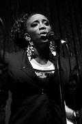 Korya Batts singing background for Ashley Seamster at Jimmy Maks
