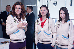 Jana Krivec, Ana Srebrnic and Vesna Rozic at  press conference of Slovenian Chess Federation before 38th Chess Olympiad 2008 in Dresden, Germany, on November 11, 2008, in Ljubljana, Slovenia. (Photo by Vid Ponikvar / Sportida)
