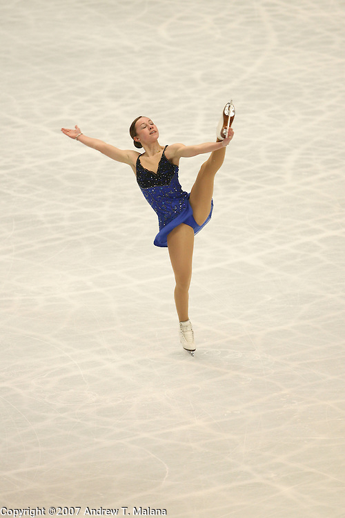 TOKYO - MARCH 24: Kimmie Meissner of USA performs during the Women's Free Skating program at the World Figure Skating Championships at the Tokyo Gymnasium on March 24, 2007 in Tokyo, Japan. (Photo by Andrew T. Malana)
