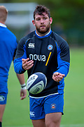 Nathan Catt of Bath Rugby before the Rugby Friendly match between Edinburgh Rugby and Bath Rugby at Meggetland Sports Complex, Edinburgh, Scotland on 17 August 2018.