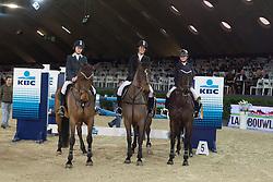 Landbouwleven Darco Cup<br /> Team Indoctro<br /> De Smedt Stefanie - Apocalyps, Eeckhoudt Erika - Anelka, Van de Poel Vicky - Verina<br /> Jumping  Mechelen 2011<br /> © Dirk Caremans