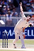 James Anderson bowls  during the Magellan fourth test match between Australia v England at  the Melbourne Cricket Ground, Melbourne, Australia on 26 December 2017. Photo by Mark  Witte.