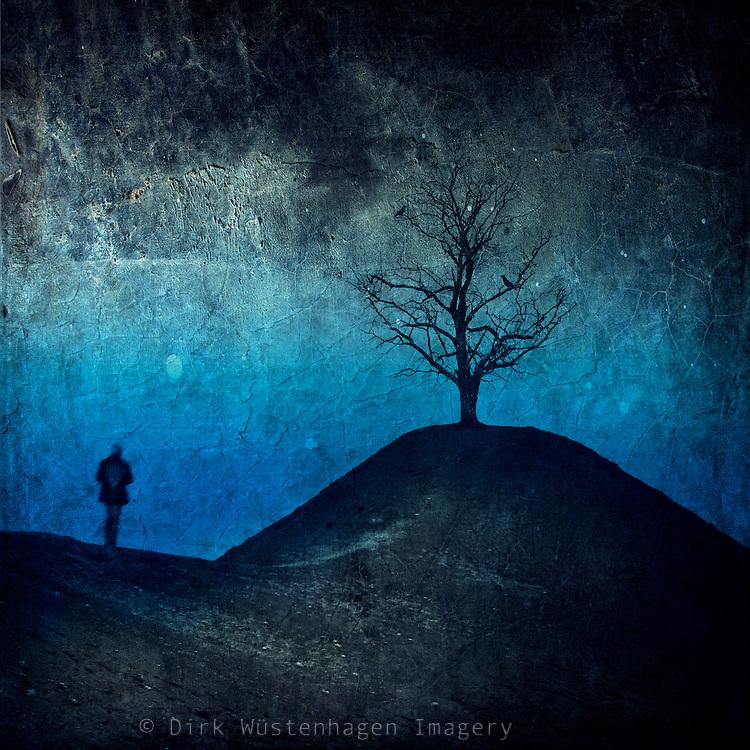 Surreal dreamy landscape in dark blue<br /> Prints: http://www.500pxart.com/photo/57589052