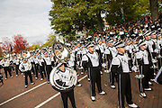 The Marching 110 during the homecoming parade on Oct. 11, 2014.