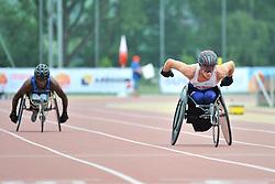 04/08/2017; Foster, Norris, T34, USA, Boardman, Craig, GBR at 2017 World Para Athletics Junior Championships, Nottwil, Switzerland