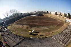 Preparing stadium Bezigrad for Winter Classic of HDD Olimpija Ice Fest 2013, on December 19, 2012 in Stadium Bezigrad, Ljubljana, Slovenia. (Photo By Matic Klansek Velej / Sportida.com)