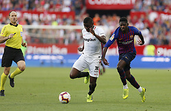 February 23, 2019 - Seville, Madrid, Spain - Ibrahim Amadou (Sevilla FC) seen in action during the La Liga match between Sevilla FC and Futbol Club Barcelona at Estadio Sanchez Pizjuan in Seville, Spain. (Credit Image: © Manu Reino/SOPA Images via ZUMA Wire)