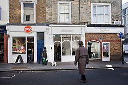"© Licensed to London News Pictures. 11/12/2013. London, United Kingdom. The gallery ""Exhibitionist"" in 15b Blenheim Crescent London. Two of artist Damien Hirst's paintings were stolen from the gallery. Photo credit : Andrea Baldo/LNP"