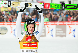 Winner Peter Prevc (SLO) celebrates after Ski Flying Hill Individual Competition at Day 4 of FIS Ski Jumping World Cup Final 2016, on March 20, 2016 in Planica, Slovenia. Photo by Vid Ponikvar / Sportida