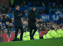 Everton manager Marco Silva (L) looks dejected - Mandatory by-line: Jack Phillips/JMP - 23/11/2019 - FOOTBALL - Goodison Park - Liverpool, England - Everton v Norwich City - English Premier League