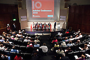 Host, Martin Wright, chairs a debate with the Ashden awards International winners. Local solutions to climate change. The Ashden Awards Imperial College Conference, Royal Geographical Society, London.