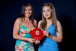 NEWPORT, WALES - Saturday, May 27, 2017: Charlie Short and family with her Under-16 Wales cap at the Celtic Manor Resort. (Pic by David Rawcliffe/Propaganda)