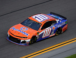 February 17, 2019 - Daytona, FL, U.S. - DAYTONA, FL - FEBRUARY 17: Landon Cassill, StarCom Racing, Chevrolet Camaro Permatex (00) during the running of the 61st annual Daytona 500 on February 17, 2019 at Daytona International Speedway in Daytona Beach, Florida (Photo by Jeff Robinson/Icon Sportswire) (Credit Image: © Jeff Robinson/Icon SMI via ZUMA Press)