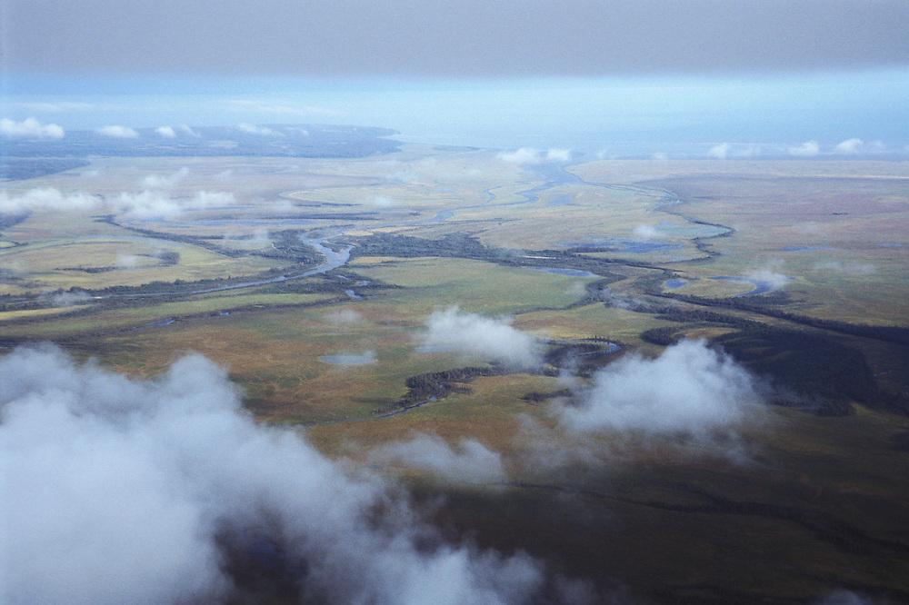 Coastal Flats along Crook Inlet, Alaska, USA