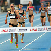 SIMPSON - 13USA, Des Moines, Ia. - Jenny Simpson used a strong last lap to win the women's 5,000.  Photo by David Peterson