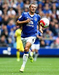Everton's Phil Jagielka  - Mandatory by-line: Matt McNulty/JMP - 02/08/2015 - SPORT - FOOTBALL - Liverpool,England - Goodison Park - Everton v Villareal - Pre-Season Friendly