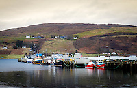 SCOTLAND - CIRCA APRIL 2016: Port of Uig in Skye, an Island in Scotland.