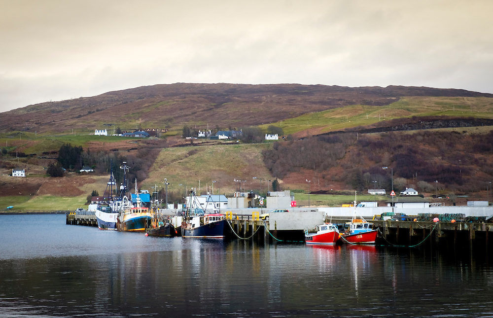SCOTLAND - CIRCA APRIL 2016: Port of Uig in Skye, an Island in Scotland.