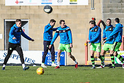 FGR players warming up during the EFL Sky Bet League 2 match between Morecambe and Forest Green Rovers at the Globe Arena, Morecambe, England on 17 February 2018. Picture by Shane Healey.