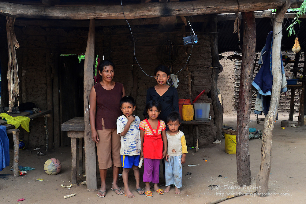 Guarani family in Pirirenda, Gutierrez, Santa Cruz, Bolivia
