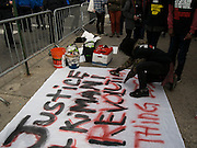 Kimani Gray protest march in Brooklyn, NY, on Sunday, March 24, 2013. ..Photograph by Andrew Hinderaker.