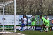 Forest Green Rovers Dayle Grubb(8) shoots at goal scores a goal 2-0 during the EFL Sky Bet League 2 match between Forest Green Rovers and Mansfield Town at the New Lawn, Forest Green, United Kingdom on 24 March 2018. Picture by Shane Healey.