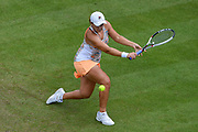 Ashleigh Barty of Australia on the way to winning her  semi-final (3-6) (6-4) (6-3) during the Aegon Classic Birmingham at Edgbaston Priory Club, Edgbaston, United Kingdom on 24 June 2017. Photo by Martin Cole.