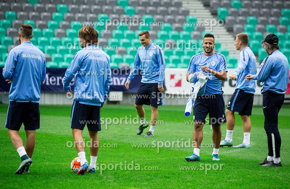 Zlatan Ljubijankic during practice session of Slovenian National Football team two days before Euro 2016 Qualifying game between Slovenia and Lithuania, on October 7, 2015 in SRC Stozice, Ljubljana Slovenia. Photo by Vid Ponikvar / Sportida