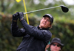 April 7, 2018 - Augusta, GA, USA - Phil Mickelson hits from the 2nd tee during the third round of the Masters Tournament on Saturday, April 7, 2018, at Augusta National Golf Club in Augusta, Ga. (Credit Image: © Curtis Compton/TNS via ZUMA Wire)