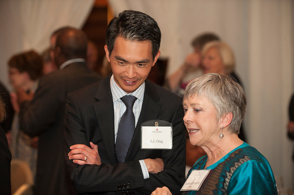 J.J. Ong, Chevron Government Affairs with Trustee Lauren Moriaty, Asia Foundation's 60th Anniversary Dinner,