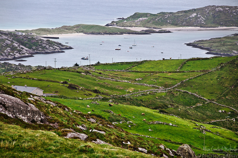 View of the Atlantic coast from Derrynane, County Kerry, Ireland.