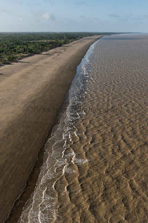 Beach & Atlantic Ocean<br /> East coast<br /> GUYANA<br /> South America