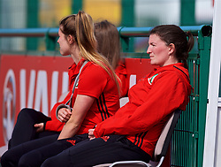 YSTRAD MYNACH, WALES - Wednesday, April 5, 2017: Wales' Helen Ward watches on after missing out through pregnancy ahead of the Women's International Friendly match against Northern Ireland at Ystrad Mynach. (Pic by Laura Malkin/Propaganda)