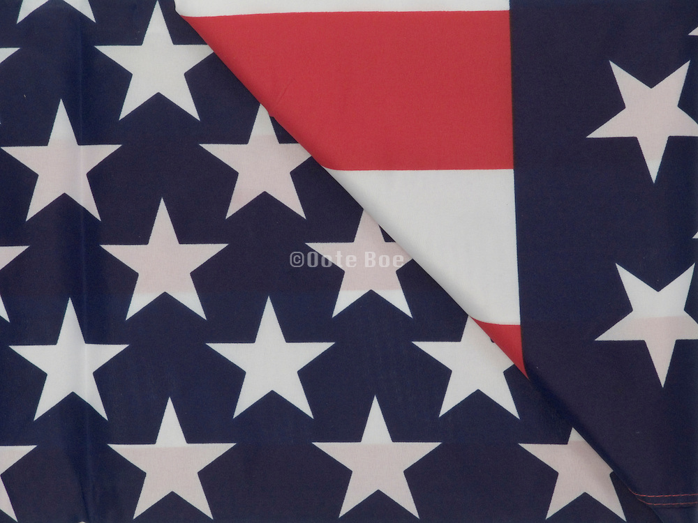 close up of an folded American flag