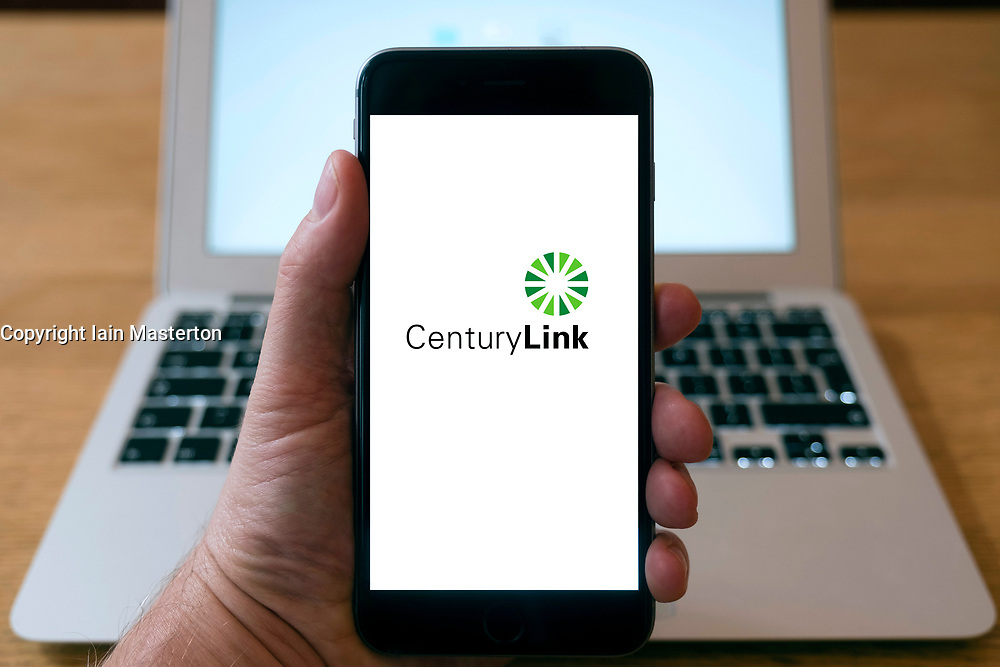Century Link logo on a iPhone smart phone