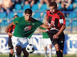Edin Junuzovic (7) of Rudar and Igor Krstic (16) of Primorje  at 6th Round of PrvaLiga Telekom Slovenije between NK Primorje Ajdovscina vs NK Rudar Velenje, on August 24, 2008, in Town stadium in Ajdovscina. Primorje won the match 3:1. (Photo by Vid Ponikvar / Sportal Images)