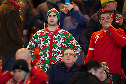 GLASGOW, SCOTLAND - Friday, March 22, 2013: A Wales supporter wearing a Onesie before the 2014 FIFA World Cup Brazil Qualifying Group A match against Scotland at Hampden Park. (Pic by David Rawcliffe/Propaganda)